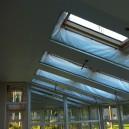 Натяжной потолок в оранжерее