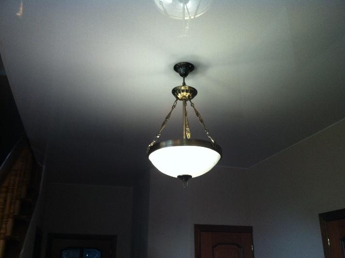 Потолочные люстры для натяжного потолка – выбор и установка